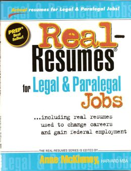 Real-Resumes for Legal & Paralegal Jobs