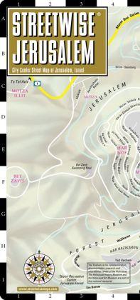 Streetwise Jerusalem Map - Laminated City Center Street Map of Jerusalem, Israel - Folding Pocket Size Travel Map (2014)