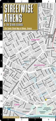 Streetwise Athens Map - Laminated City Center Street Map of Athens, Greece - Folding Pocket Size Travel Map With Metro (2014)