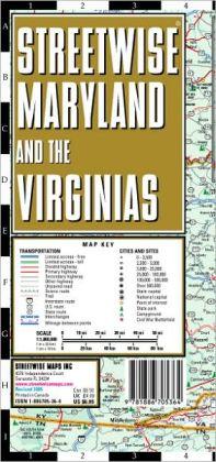 Streetwise Maryland & Virginia Map - Laminated State Road Map of Maryland & Virginia - Folding Pocket Size Travel Map / Edition 2005