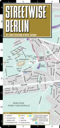 Streetwise Berlin Map - Laminated City Center Street Map of Berlin, Germany - Folding Pocket Size Travel Map With Metro (2014)