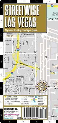 Streetwise Las Vegas Map - Laminated City Center Street Map of Las Vegas, Nevada - Folding Pocket Size Travel Map (2013)