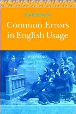 common errors in english ussage This article presents some common mistakes that native chinese  thus, when  chinese speakers learn english, they often forget to use the.