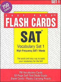 SAT Vocabulary Set 1: High-Frequency SAT 1 Words [With 24 Page Study GuideWith 24 Blank CardsWith Carrying Pouch]
