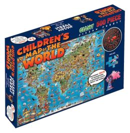 Children's Map of the World 500 Piece Puzzle