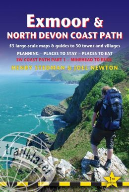 Exmoor & North Devon Coast Path: (SW Coast Path Part 1) British Walking Guide with 53 large-scale walking maps, places to stay, places to eat