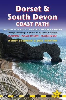 Dorset & South Devon Coast Path: (SW Coast Path Part 3) British Walking Guide with 70 large-scale walking maps, places to stay, places to eat