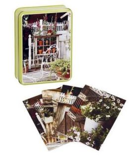 Country Garden Notecards in Tins