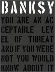 Book Cover Image. Title: Banksy:  You Are an Acceptable Level of Threat, Author: Gary Shove