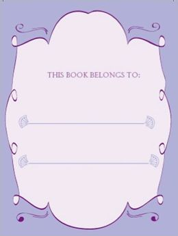 Bookplates - Mauve Fans
