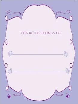 Bookplates - Mauve Fans