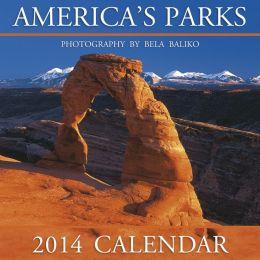 2014 America's Parks Wall Calendar