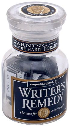 Writer's Remedy Magnetic Poetry in Glass