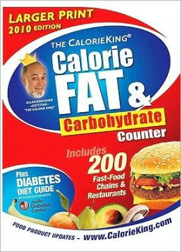 CalorieKing Calorie, Fat and Carbohydrate Counter 2010