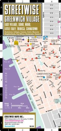 Streetwise Greenwich Village Map - Laminated Street Map of Greenwich Village, NY - Folding Pocket Size Travel Map With Subway (2012)