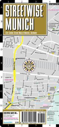 Streetwise Munich Map - Laminated City Center Street Map of Munich, Germany - Folding Pocket Size Travel Map With Metro (2014)