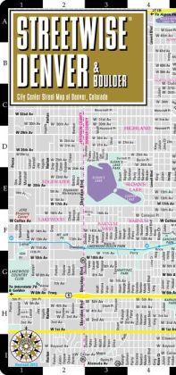 Streetwise Denver Map - Laminated City Center Street Map of Denver, Colorado - Folding Pocket Size Travel Map With Metro (2012)