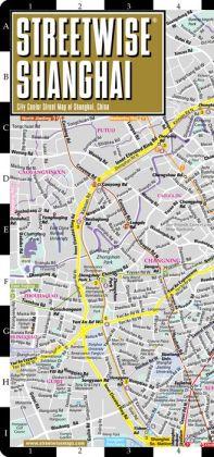 Streetwise Shanghai Map - Laminated City Center Street Map of Shanghai, China - Folding Pocket Size Travel Map With Metro (2014)