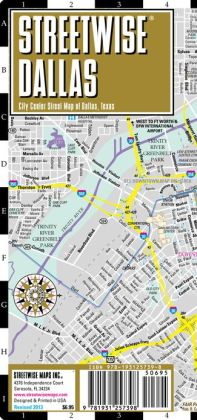 Streetwise Dallas Map - Laminated City Center Street Map of Dallas, Texas - Folding Pocket Size Travel Map (2013)