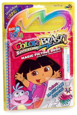 Dora the Explorer Color Blast! Suprise Ink! Magic Picture Book with Mess Free Marker