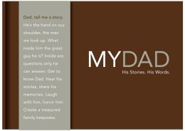 My Dad: His Stories. His Words