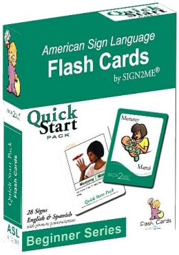 Sign2Me-ASL Flashcards: Beginners Series-Quick Start Pack (incl. ASL+English + Spanish)