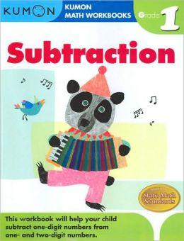 Kumon Math Workbooks: Subtraction, Grade 1