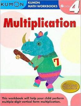 Grade 4 Multiplication: Kumon Math Workbooks