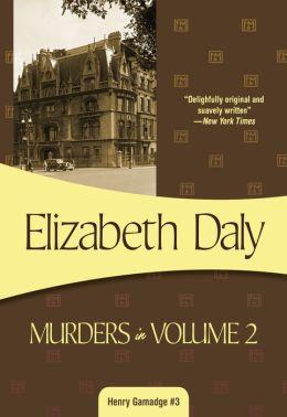 Murders in Volume Two (Henry Gamadge Series #3)