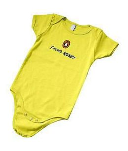 Yellow AA Future Reader Onesie (6-12 Mos)