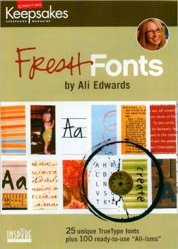 CD Ali Edwards Fresh Fonts
