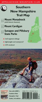 Southern New Hampshire Trail Map (TYVEK)) : Mount Monadnock, Mount Cardigan, Sunapee and Pillsbury State Parks