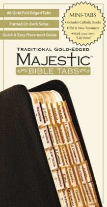 Majestic Traditional Gold Bible Tabs, mini