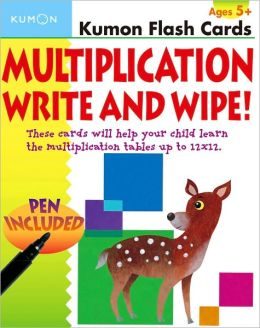 Kumon Flash Cards: Multiplication Write and Wipe! (Kumon Flash Cards Series)