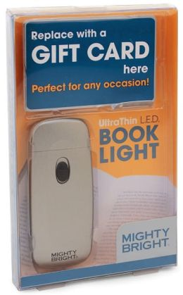 UltraThin 2 LED Silver Book Light Gift Card Gift Pack