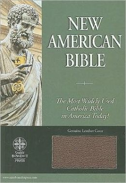 New American Bible Leather Burgundy
