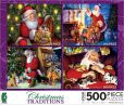 Product Image. Title: Christmas Traditions 4 In 1 Puzzle