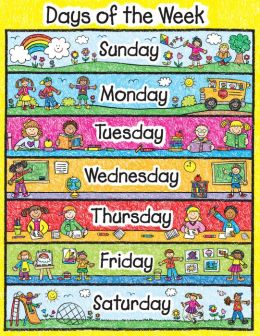 Days Of The Week - Laminated