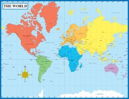 Map Of The World - Laminated