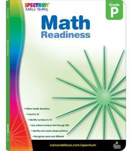 Spectrum Math Readiness, Grade Pre K