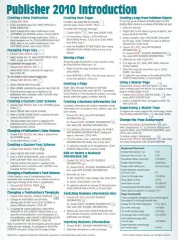 Microsoft Publisher 2010 Quick Reference Guide: Introduction (Cheat Sheet of Instructions, Tips & Shortcuts - Laminated Card)