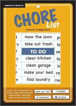 Chore Magnets: Word Magnets