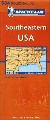 Michelin Southeastern USA: Map # 584