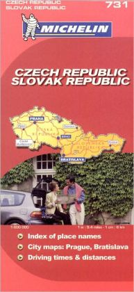 Czech and Slovak Republics Map