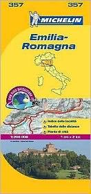 Michelin Map Italy: Emilia-Romagna 357
