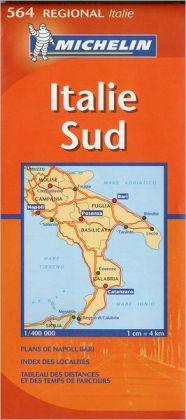 Map South Italy