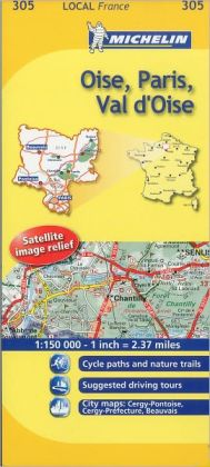 Michelin Map France: Oise, Paris, Val d'Oise 305