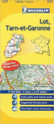 Michelin Map France: Lot, Tarn-et-Garonne 337