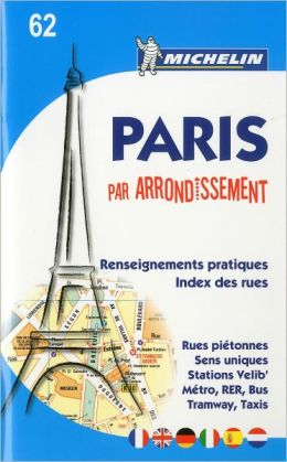 Michelin Paris by Arrondissements (saddle-stitched) No. 62, 1e