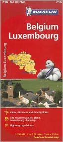 Michelin Belgium Luxembourg Maps 716